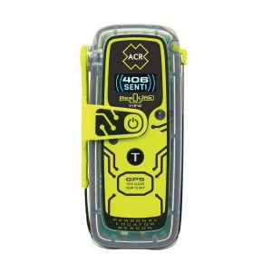 ACR RESQLINK VIEW PLB-425 Class 2 Manual Buoyant Personal Locator Beacon with Digital Display, 16.4 ft at 1 hr, 33 ft at 10 min, ACR-Treuse (High Visibility Yellow)|2922