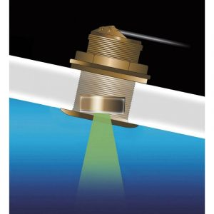 AIRMAR Tilted Element B175C 1 kW 40 to 60 kHz Low Bronze Fixed 20 deg Tilted Chirp-Ready Through-Hull Depth and Temperature Transducer|B175C-20-L