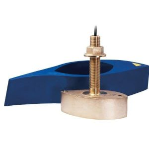 AIRMAR 1 kW 42 to 65 kHz Low85 to 135 kHz Medium Bronze Chirp-Ready Through-Hull Depth and Temperature Transducer|B265C-LM
