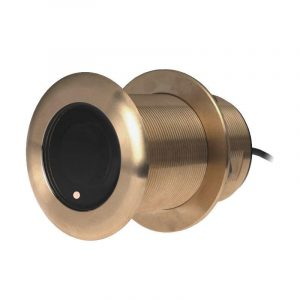 AIRMAR Tilted Element B75C 600 W 130 to 210 kHz High Bronze Fixed 12 deg Tilted Chirp-Ready Through-Hull Depth and Temperature Transducer|B75C-12-H