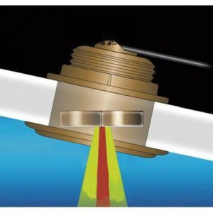 AIRMAR Tilted Element B164 1 kW 50 and 200 kHz Bronze Traditional/CW Low-Profile Fixed 20 deg Tilted Through-Hull Depth and Temperature Transducer|B164-20-RAYA