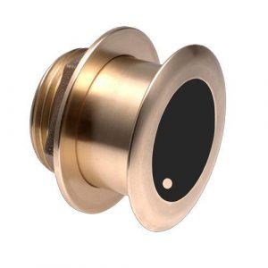 FURUNO 1 kW 150 and 250 kHz Bronze High Frequency Wide Beam 20 deg Tilted Through-Hull Depth and Temperature Transducer B175HW/20