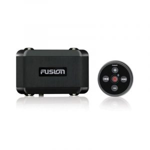 FUSION MS-BB100 Marine Box with Bluetooth Wired Remote and NMEA 2000, AM/FM with RDS, Bluetooth, Black|010-01517-01