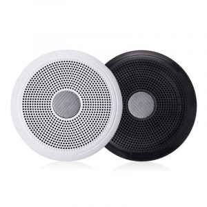 FUSION XS-F65CWB XS Series 6-1/2 in 200 W 4 Ohm 2-Way Classic Marine Speaker with LED, White and Black|010-02196-00