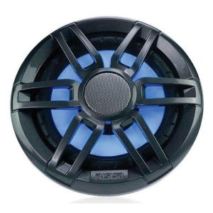 FUSION XS Series 6-1/2 in 200 W 4 Ohm 2-Way Sports Marine Speaker with LED, Gray and White 010-02196-20