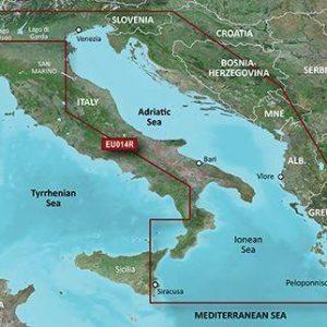 GARMIN BlueChart g3 MicroSD/SD Card Chart, Italy, Adriatic Sea|010-C0772-20