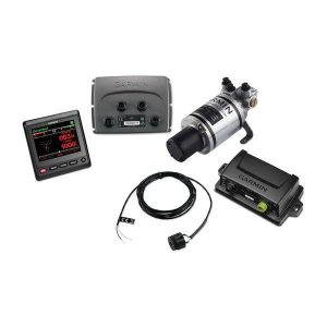 GARMIN Compact Reactor 40 10 to 20 V QVGA Color LCD Display Hydraulic Autopilot with GHC 20 Marine Autopilot Control Unit Corepack|010-00705-07