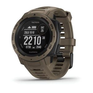 GARMIN Instinct – Tactical Edition 128 x 128 pixel Sunlight-Visible Monochrome Transflective Memory-In-Pixel (MIP) Display 10 ATM Rugged Outdoor GPS Watch, Coyote Tan|010-02064-71