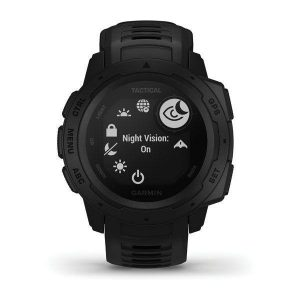 GARMIN Instinct – Tactical Edition 128 x 128 pixel Sunlight-Visible Monochrome Transflective Memory-In-Pixel (MIP) Display 10 ATM Rugged Outdoor GPS Watch, Coyote Black|010-02064-70