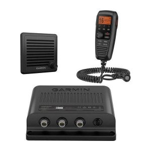 GARMIN VHF 315 Class D DSC Marine Radio with Black Box with Speaker and Handset, 23 to 25 W at 13.6 VDC High Power, 0.7 to 1 W at 13.6 VDC Low Power|010-02047-00