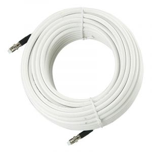 GLOMEX FME to FME Low Loss Coaxial Cable for RA106SLSFME, RA106GRPFME and RA300 Glomeasy VHF Antenna, White, 20 ft|RA350/6FME