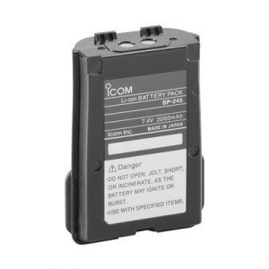 ICOM 2000 mAh 7.4 V Lithium-Ion Battery Pack for M72 and M73 Handheld VHF Radios|BP245N