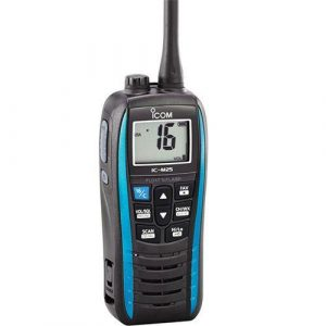 ICOM Blue VHF Marine Transceiver with USB Charger, Large LCD Display|M25 21/BLUE