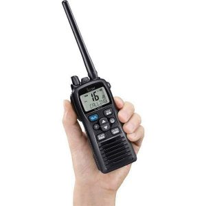 ICOM VHF Marine Transceiver, 6/3/1 W, Large LCD Display|M73