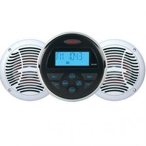 JENSEN 6-1/2 in 160 W 2-Way AM/FM/USB Bluetooth Stereo Speakers Package|CPM150
