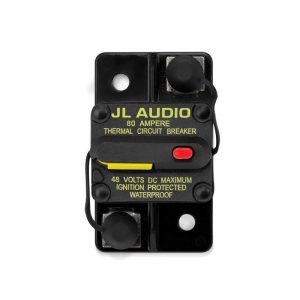 JL AUDIO Waterproof Ignition Protected Circuit Breaker, 80 A|90948