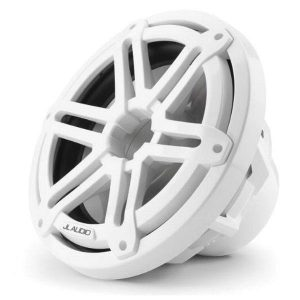 JL AUDIO M3-10IB-S-Gw-4 10 in 175 W 4 Ohm Marine Subwoofer Driver, Gloss White Sport Grille|93530