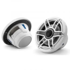 JL AUDIO M6-650X-S-GwGw 6-1/2 in 75 W 4 Ohm 2-Way Marine Coaxial Speaker, Gloss White Trim Ring and Sport Grille|93713