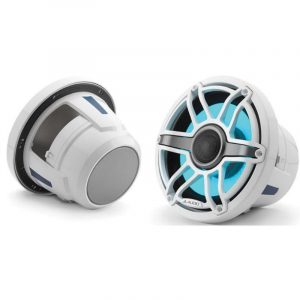 JL AUDIO M6-880X-S-GwGw-i 8.8 in 125 W 4 Ohm 2-Way Marine Coaxial Speaker with Transflective LED Lighting, Gloss White Trim Ring and Sport Grille|93731