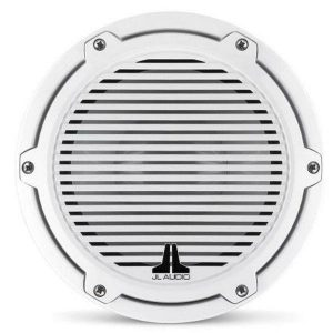 JL AUDIO M6-8IB-C-GwGw-4 8 in 200 W 4 Ohm Marine Subwoofer Driver, Gloss White Trim Ring and Classic Grille|93615