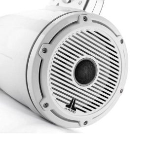 JL AUDIO M6-770ETXv3-Gw-C-GwGw 7.7 in 100 W 4 Ohm 2-Way Marine Enclosed Tower Coaxial Speaker System, Gloss White Enclosure, Trim Ring and Classic Grille|93651