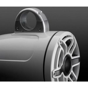 JL AUDIO M6-880ETXv3-Gw-S-GwGw 8.8 in 125 W 4 Ohm 2-Way Marine Enclosed Tower Coaxial Speaker System, Gloss White Enclosure, Trim Ring and Sport Grille|93664