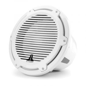 JL AUDIO M7-12IB-C-GwGw-4 12 in 600 W 4 Ohm Marine Subwoofer Driver, Gloss White Trim Ring and Classic Grille|93669