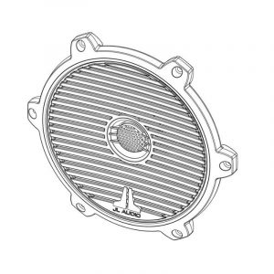 JL AUDIO White Classic Grille/Tweeter Assembly for M770 Coaxial Speaker|41216