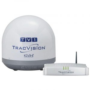 KVH TracVision TV1 51 dBW Satellite TV Antenna System with IP-Enabled TV-Hub A|01-0366-07