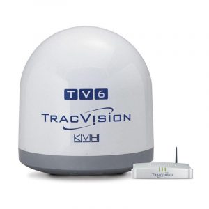 KVH TracVision TV6 46 dBW Satellite TV Antenna System with IP-Enabled TV-Hub A|01-0369-07 – SHIPPING CHARGES APPLY