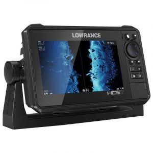 LOWRANCE HDS-7 LIVE 7 in LED Multi-Touchscreen C-MAP US Enhanced Basemap Fishfinder/Chartplotter with Active Imaging 3-in-1 Transducer, Pure White|000-14416-001