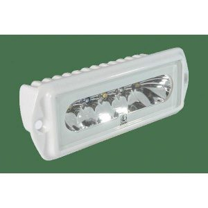 LUMITEC Capri2 16 W 10 to 30 VDC 1000 Lumens Flush Mount Dimmable LED Flood Light, White, White/Blue|101099