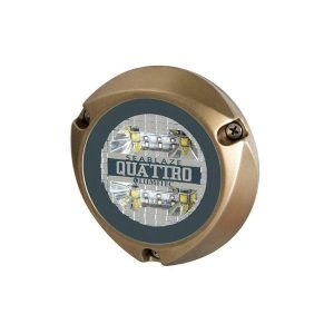 LUMITEC SeaBlaze Quattro 25 W 10 to 30 VDC 2000+ Lumens LED Underwater Light, Bronze, Spectrum RGBW Full-Color|101510