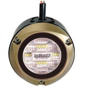 LUMITEC Kraken 60 W 10 to 30 VDC 6000 Lumens Bronze Zip Mount Dock Lighting System, White/Blue|101636