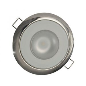 LUMITEC Mirage 9 W 10 to 30 VDC 226 Lumens Flush Mount Dimmable LED Down Light, Polished, Warm White 113119