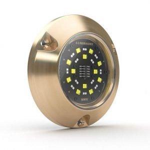 LUMISHORE SMX53 SUPRA Series 10.5 to 31 VDC 6100 Lumens Marine Grade Bronze 90 deg Internal Driver Surface Mount Underwater LED Light, (12) 5 W White/(24) 3 W Blue|60-0314