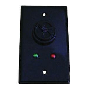 MARETRON ALM100 Alarm Buzzer with Black Cover Plate for Indoor/Outdoor|ALM100-01