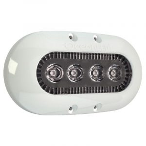 OCEAN LED X-Series X4 9 to 32 VDC 1450 Lumens Surface Mount LED Underwater Light, Midnight Blue|012302B