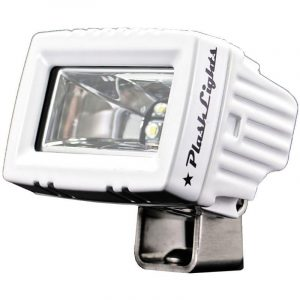 PLASHLIGHT 20 W 9 to 36 VDC 2600 Lumens 2-LED Low Profile Spreader Light, Dupont Marine White Coated|20-LP-SC-WHT