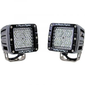 PLASHLIGHT 40 W 9 to 36 VDC 5200 Lumens 120 deg Scene Flood 4-LED Spreader Light, Dupont Marine Black Coated|40-LP-SC