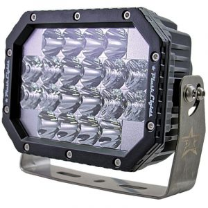 PLASHLIGHT 60 W 9 to 36 VDC 5400 Lumens Combination Beam Quad LED Search Light, Dupont Marine Black Coated|QUAD-CB
