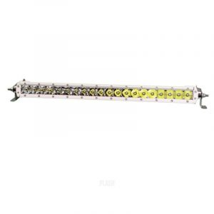 PLASHLIGHT 100 W 9 to 36 VDC 10780 Lumens Combination Beam 20-LED 20 in Single Row Light Bar, Dupont White Coated|SR-20