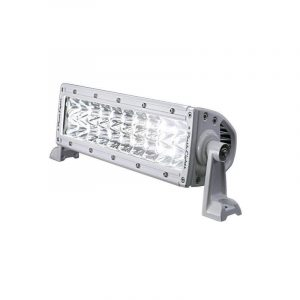 PLASHLIGHT XX Series 100 W 9 to 36 VDC 6300 Lumens Combination Beam 20-LED 10 in Double Row Light Bar, AkzoNobel Marine White Polyester Powder Coated|XX-10-5W