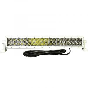 PLASHLIGHT XX Series 200 W 9 to 36 VDC 12600 Lumens Combination Beam 40-LED 20 in Straight Double Row Light Bar, AkzoNobel Marine White Polyester Powder Coated Housing|XX-20-5W-WHT