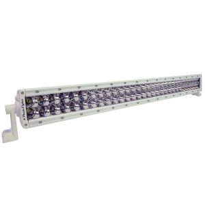 PLASHLIGHT XX Series 300 W 9 to 36 VDC 18900 Lumens Combination Beam 60-LED 30 in Curved Double Row Bar Light Bar, AkzoNobel Marine White Polyester Powder Coated Housing|XX-30-5W-R-WHT