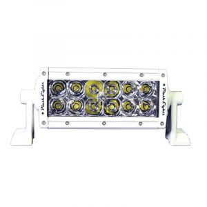 PLASHLIGHT XX Series 60 W 9 to 36 VDC 3660 Lumens Combination Beam 12-LED 6 in Double Row Light Bar, AkzoNobel Marine White Polyester Powder Coated Housing|XX-6-5W