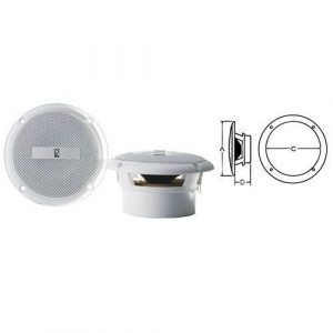 POLY-PLANAR 3 in 60 W 4 Ohm Flush Mount Round 1-Way Component Speaker, White|MA-3013/WHT