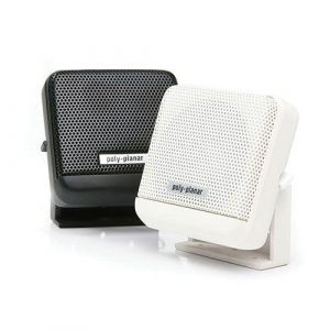 POLY-PLANAR 10 W 4 Ohm Surface Mount VHF Extension Speaker, White|MB-41/WHT