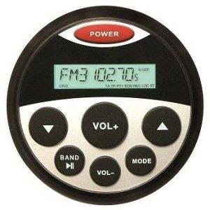 PROSPEC Milennia Digital Media Round Marine Receiver, Bluetooth, AM/FM/REAR AUX and USB, 6-1/2 in Speaker|MIL-PRV16
