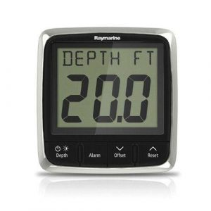 RAYMARINE i50 Digital LCD 12 VDC Front Mount Depth Pack with P319 Depth Through Hull Transducer|E70148